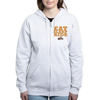 Eat Sleep Ride Women's Zip Hoodie