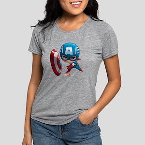 Chibi Captain America 2 Womens Tri-blend T-Shirt