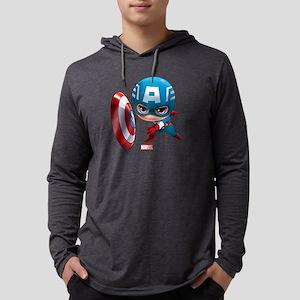 Chibi Captain America 2 Mens Hooded Shirt