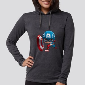 Chibi Captain America 2 Womens Hooded Shirt