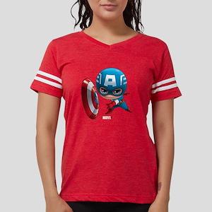 Chibi Captain America 2 Womens Football Shirt