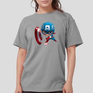 Chibi Captain America  Womens Comfort Colors Shirt