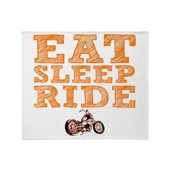 Eat Sleep Ride Stadium Blanket