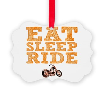 Eat Sleep Ride Picture Ornament