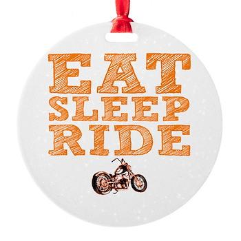 Eat Sleep Ride Round Ornament