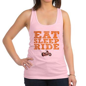 Eat Sleep Ride Racerback Tank Top