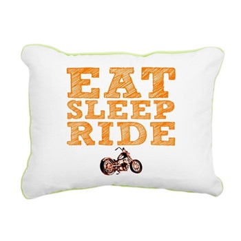 Eat Sleep Ride Rectangular Canvas Pillow
