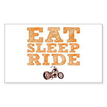 Eat Sleep Ride Rectangle Sticker