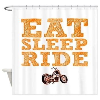Eat Sleep Ride Shower Curtain