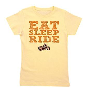 Eat Sleep Ride Girl's Tee