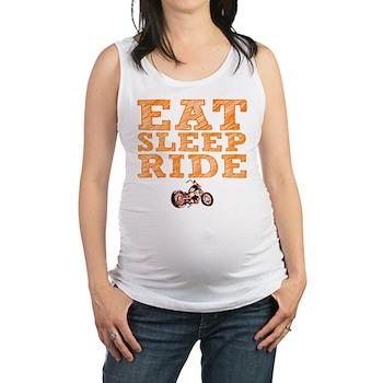 Eat Sleep Ride Maternity Tank Top