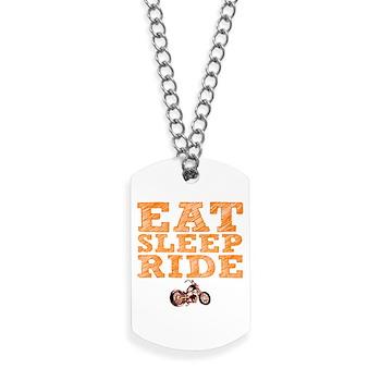 Eat Sleep Ride Dog Tags