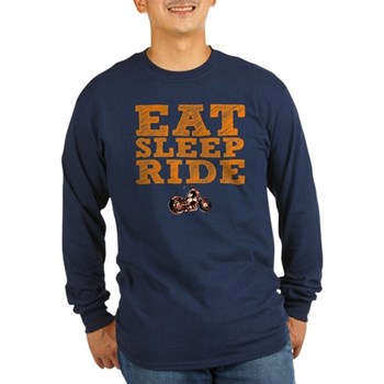Eat Sleep Ride Long Sleeve Dark T-Shirt