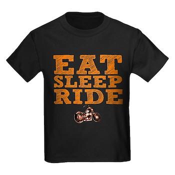 Eat Sleep Ride Kids Dark T-Shirt