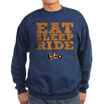 Eat Sleep Ride Dark Sweatshirt