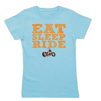 Eat Sleep Ride Girl's Dark Tee