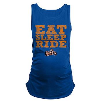 Eat Sleep Ride Dark Maternity Tank Top