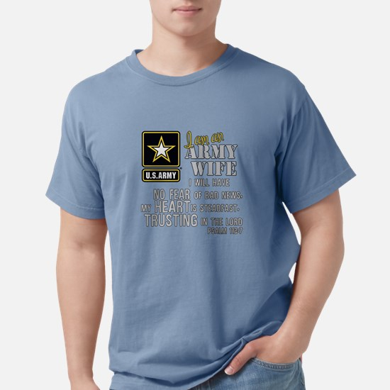 I am an Army Wife Psalm  Mens Comfort Colors Shirt