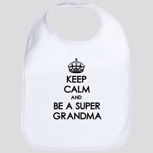Keep Calm Super Grandma Bib