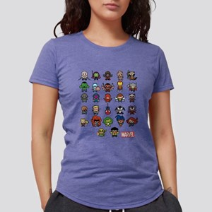 Marvel Kawaii Heroes Ligh Womens Tri-blend T-Shirt