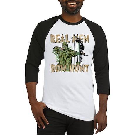 Real Men Bow Hunt Baseball Jersey