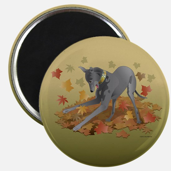"Playful Greyhound 2.25"" Magnet (10 pack)"