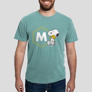 Snoopy Woodstock Monogra Mens Comfort Colors Shirt