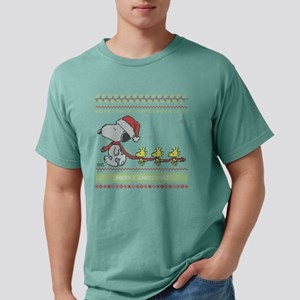 Snoopy Ugly Christmas Wh Mens Comfort Colors Shirt