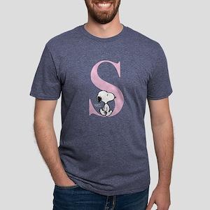Snoopy S Mens Tri-blend T-Shirt