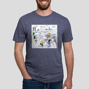 peanut gang snow scene Mens Tri-blend T-Shirt