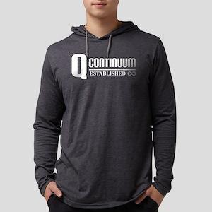Q continuum white comp logo Mens Hooded Shirt