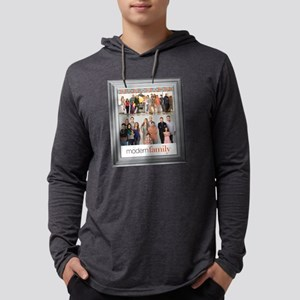 Modern Family Portrait Light Mens Hooded Shirt
