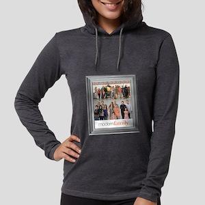 Modern Family Portrait Light Womens Hooded Shirt