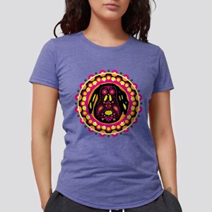 Peanuts Snoopy Circle Lig Womens Tri-blend T-Shirt