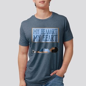 Bob's Burgers Tina Heart Da Mens Tri-blend T-Shirt