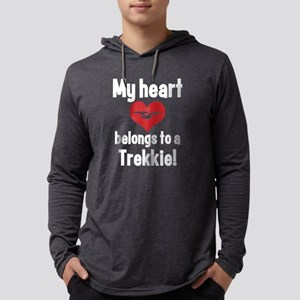heart trekkie dark Mens Hooded Shirt