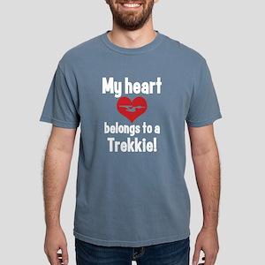 heart trekkie dark Mens Comfort Colors Shirt