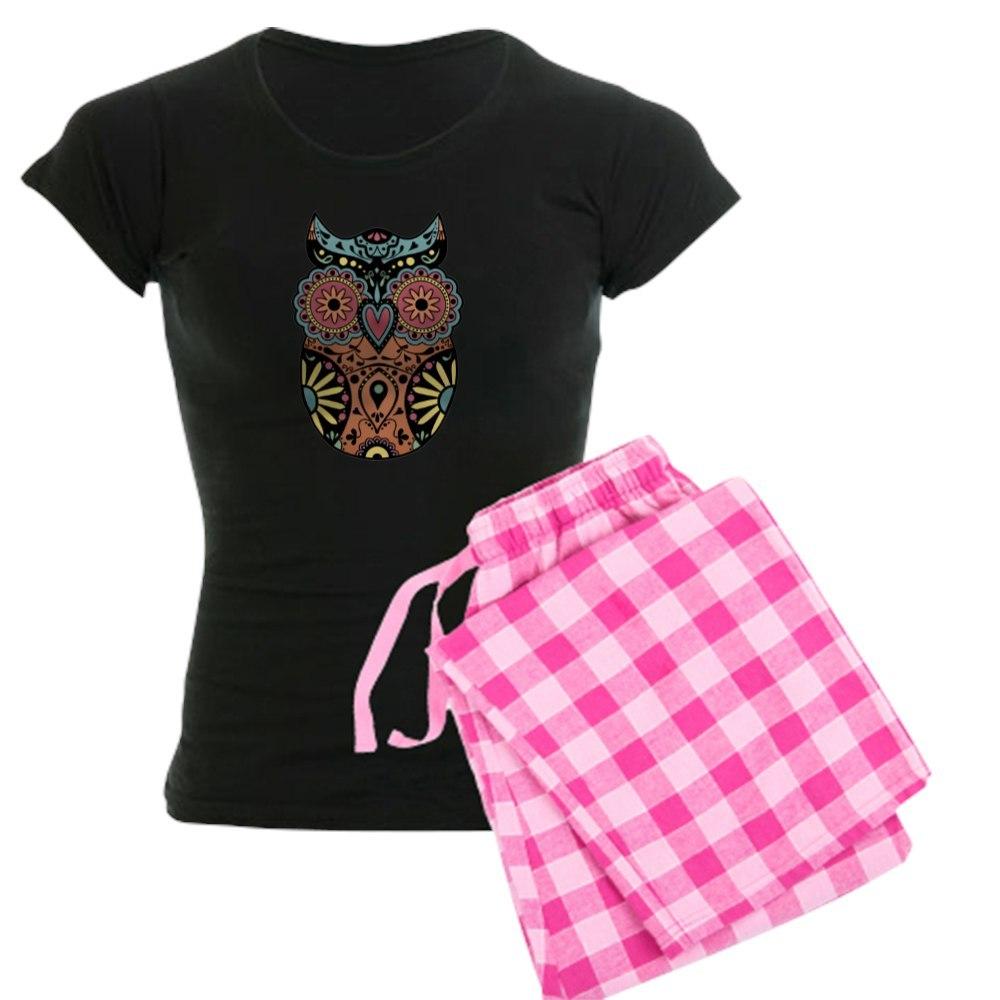 6e068bdaff CafePress Sugar Skull Owl Color Women s Comfortable PJ Sleepwear ...