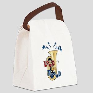 Loud Tuba Canvas Lunch Bag