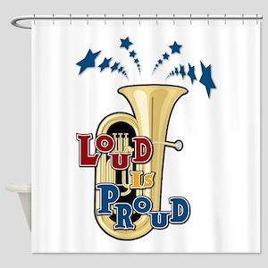Loud Tuba Shower Curtain