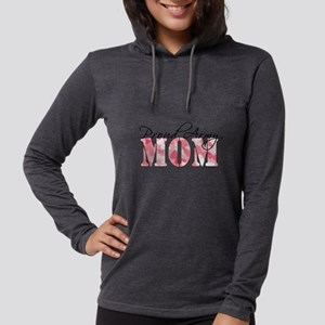 Proud Army Mom (Pink Butterfly Womens Hooded Shirt