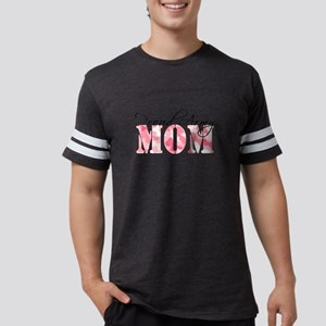 Proud Army Mom (Pink Butterfly Mens Football Shirt