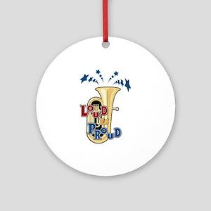 Loud Tuba Ornament (Round)
