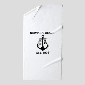 Newport Beach anchor design Beach Towel