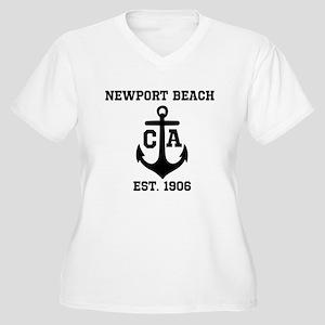 Newport Beach anchor design Plus Size T-Shirt