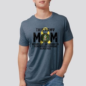 Army Mom Wears RED Mens Tri-blend T-Shirt