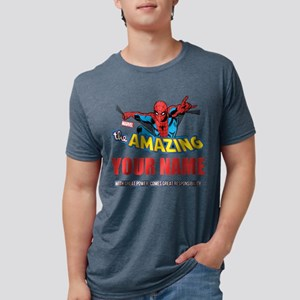 Personalized Amazing Spider Mens Tri-blend T-Shirt