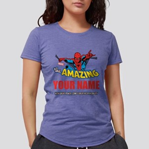 Personalized Amazing Spid Womens Tri-blend T-Shirt