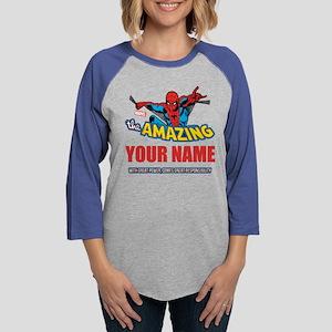 Personalized Amazing Spiderman Womens Baseball Tee