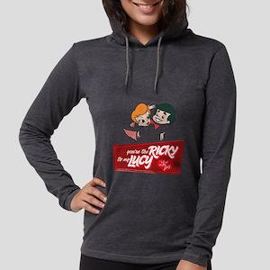 I Love Lucy Valentine's Da Womens Hooded Shirt